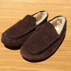 UGG Lather Loafers Slippers Shoes Men's 13